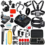 #4: Action Pro Sports Action Camera Accessory Kit for GoPro Hero6,5 Black, Hero 5,4,3,2,1,Session,GoPro Fusion,DBPOWER,AKASO,APEMAN,SJ CAM,XIAO YI ,2,Sony ,Sports Camera