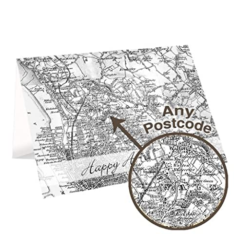 Personalised 1805 - 1874 Old Series Map Card Gifts, and, Cards Gift, Idea Cards, idea Personalised