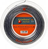 Kirschbaum, Rotolo di corda per racchetta da tennis Max Power Rough, 1.30 mm, Grigio (Anthrazit), 200 m