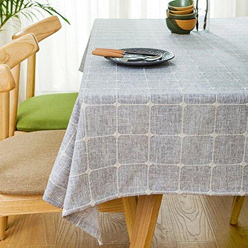 Home tischdecke,vintage tischdecke,stoff baumwolle leinen.lÄndlichen] moderne landschaft lattice] edge teetisch sauber längliche tischdecke.mehrere farben.grey-Grau 90x130cm(35x51inch)