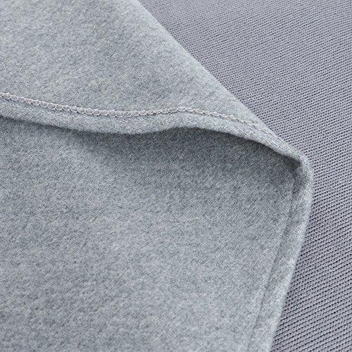 Vertvie Damen Offene Cardigan Langarmshirt Wasserfall Strickjacke Asymmetrisch Strickmantel Mantel Grau