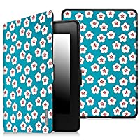 Fintie SmartShell Case for Kindle Paperwhite - The Thinnest and Lightest Cover With Auto Sleep / Wake for All-New Amazon Kindle Paperwhite (Fits All 2012, 2013, 2015 and 2016 Versions), Blue Floral