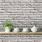 DeStudio 'Bricks Grey' Peel and Stick Wallpaper (Self Adhesive, 40 cm x 1016 cm)