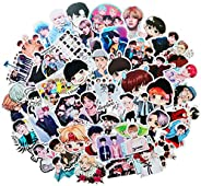Pop Singer BTS Stickers 50PCS for Laptop and Water Bottles,Waterproof Durable Trendy Vinyl Laptop Decal Sticke