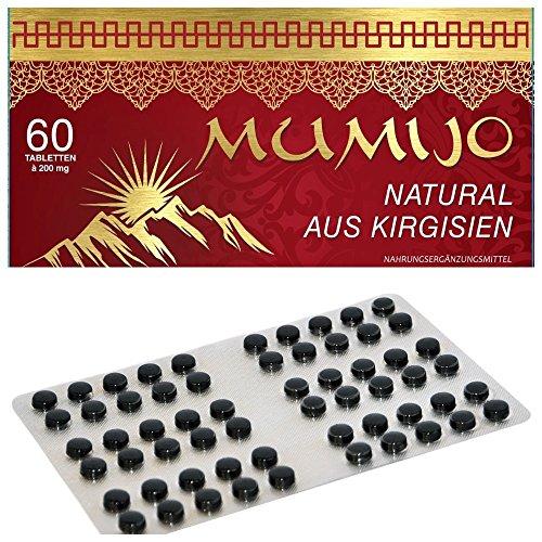 MUMIJO 100 % Natural - Original aus Kirgisistan(Kirgisien) - Мумиё ( MINERALERDE,Mumie, Mumijo ), 60 Tabletten (60 Original Tabletten)