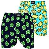 Happy Shorts 2 Webboxer Herren Boxer Motiv Boxershorts Design 17, Grösse:L - 6-52, Präzise Farbe:Design 17