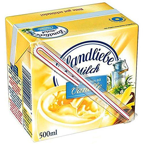 Landliebe Milch leckerer Genuss mit Vanille mit Trinkhalm 12 x 0,5l