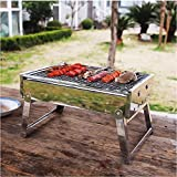 Holzkohle Grill Backofen Grill Herd bewegbare Outdoor Reisen Camping Picknick  HNAA