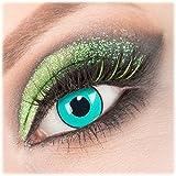 Giftauge Farblinsen 1 Paar deckend grau - schwarze Crazy Fun Mirror Kontaktlinsen ohne Stärke + Behälter von Giftauge. Perfekt zu Halloween, Karneval, Fasching, Fasnacht oder Cosplay, Manga und Zombie Kostüme.