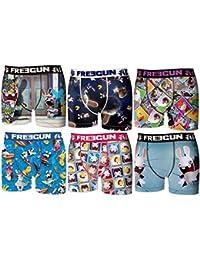 Freegun-LAPINS CRETINS-lot de 6 boxers homme