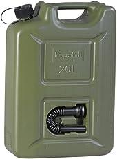 hünersdorff Kraftstoff-Kanister PROFI 20l für Benzin, Diesel und andere Gefahrgüter, UN-Zulassung, made in Germany, TÜV-geprüfter Produktion, oliv
