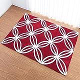 A-ZHP & Teppich Supermarkt Verdicken Super Soft Teppich Rechteckigen Teppich Wohnzimmer Schlafzimmer Teppich Waschbar Bodenmatte für zu Hause (Farbe : Red, größe : 130 * 190cm)