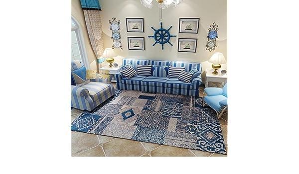 Arredamento Stile Mediterraneo : Maxyoyo blu stile mediterraneo tappeto per soggiorno lavabile