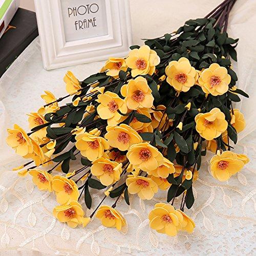 Preisvergleich Produktbild WANG-shunlida Blume Europäische Blume Simulation Micro Touch Pe Azalee Blumen Home Ausstattung Zimmer Tischdekoration Sun Flower Ornamente,  Gelb
