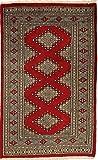 CarpetVista Pakistan Buchara 2ply Teppich 73x120 Orientalischer Teppich