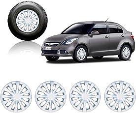Autorepute Premium Quality Car Full Wheel Cover Caps Silver 14Inches - Maruti Suzuki Swift Dzire 2015