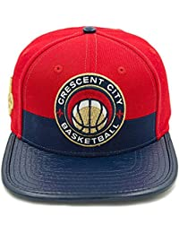 Pro Standard Men s NBA New Orleans Pelicans Leather Strapback Hat W Pin Red dfc44d53004