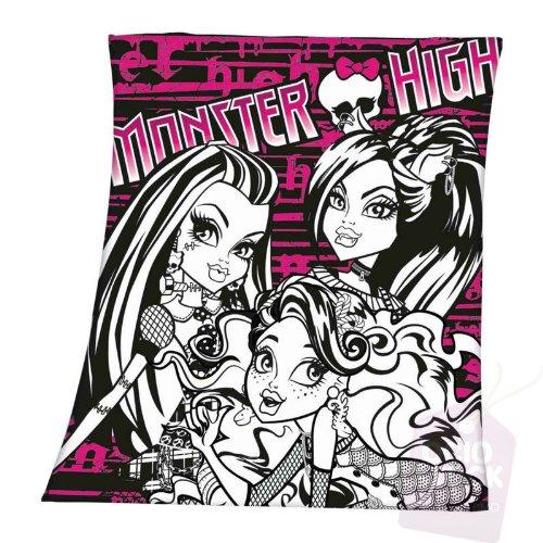 Monster High Polar-Decke, Schwarz/Weiß (Monster High Schwarz Und Weiß Frankie)