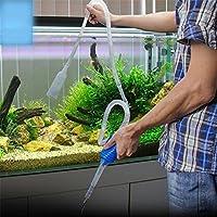Zantec Herramienta de limpieza manual Sifón, Grava Tubo de succión Tanque de peces Cambio de agua de vacío