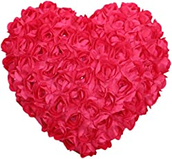 Tickles Pink Heart Cushion Stuffed Soft Plush Toy 37 cm