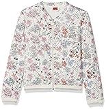 s.Oliver Mädchen Sweatshirt 66.802.43.4932, Weiß (White AOP 02A5), 164 (Herstellergröße: L/REG)