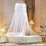 vitutech moskitonetz für, Moskitonetz Doppelbett Fliegennetz Mückennetz Rund Moskitonetz für Einzel Fliegennetz Schützt Effektiv vor Insekten und Mücken (Weiß)