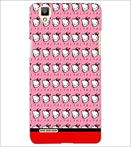 PrintDhaba Kitty pattern D-1778 Back Case Cover for OPPO F1 (Multi-Coloured)