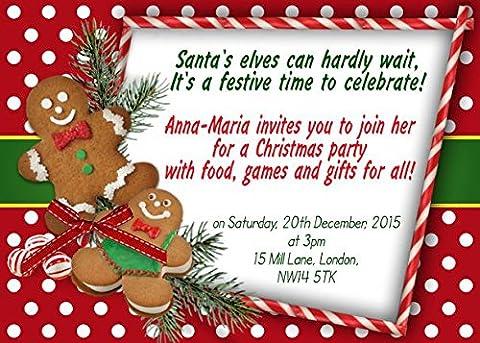 10x personalisierbar Weihnachten New Years Corporate Party Einladungen
