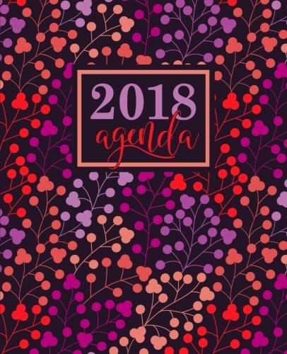 Agenda: 2018 Agenda semana vista español : 190 x 235 mm, 160 g/m² : Estampado floral en coral, lavanda, morado y melocotón (Calendarios, agendas y organizadores personales, Band 10)