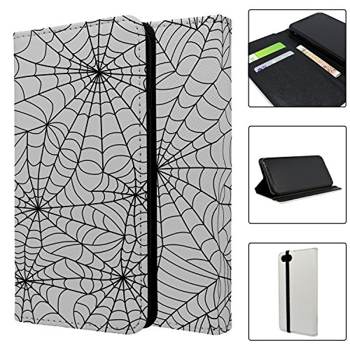Halloween Spider Web Muster Full Flip Case Schutzhülle für für Apple iPhone 8–S4030