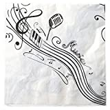PARTY DISCOUNT ® Servietten Musiknoten, 33x33 cm
