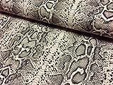 Vorhang/Dekostoff mit Schlangenhaut- oder Zebra-Motiv, Leinen-Baumwoll-Mischgewebe, 140cm (Meterware) Schlangenleder-Optik