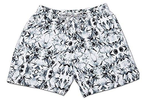 Sundaze The Black Blossom Swimwear | Gentleman' s Essentials Collezione 2017| Premium Men' s Beachwear | Die Gentleman' s Pantaloncini da Bagno (L)