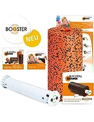blackroll-orange BOOSTER-Set PRO inkl. Faszienrolle Pro, BOOSTER Booklet, Übungs-DVD & Übungs-Booklet zur Faszienmassage mit Vibration