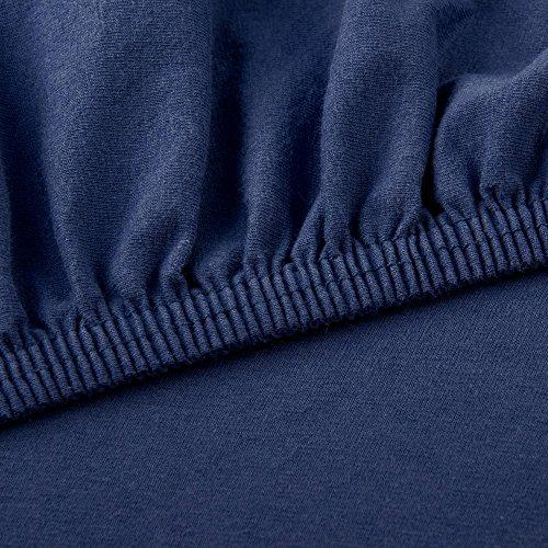CelinaTex Lucina Spannbettlaken 180×200 – 200×200 dunkel blau Jersey Baumwolle Spannbetttuch Doppelbett Matratzen 0002809 - 3
