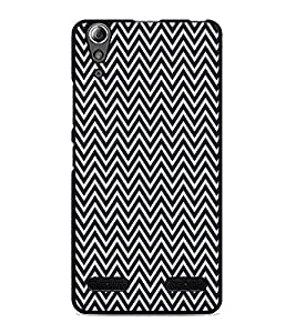 PrintDhaba ZigZag Pattern D-5908 Back Case Cover for LENOVO A6000 PLUS (Multi-Coloured)