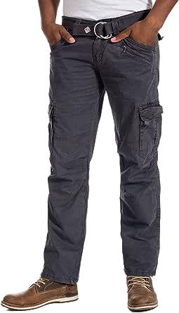 Timezone Men's Benitotz Cargo Pants Incl. Belt Trouser
