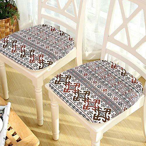 Scofeifei Nicht-Geometrische Slipchair, Pad Kissen des Stuhls der Tabelle Büro In Col Weiß -C Assisi 42X43Cm (17 X 17 Zoll) (Farbe : G, Größe : 42x43cm(17x17inch)) -