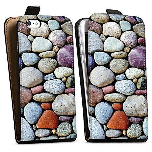 Apple iPhone X Silikon Hülle Case Schutzhülle Kieselsteine Steine Fels Downflip Tasche schwarz