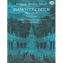 W.A. Mozart: Piano Concertos Nos. 23-27 (Full Score) (Dover Music Scores)