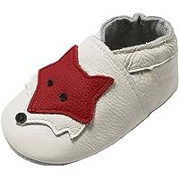 YIHAKIDS Bébé Filles Garçons Chaussures Cuir Souple Enfant Chaussons Cuir Doux Chaussures Premiers Pas