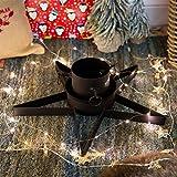 Harbour Housewares Star Shaped Metal Christmas Tree Stand - Black