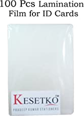 KESETKO Lamination Sheets, Lamination Pouch, (100 PCS) for I.D Cards, Full 70 x 100mm