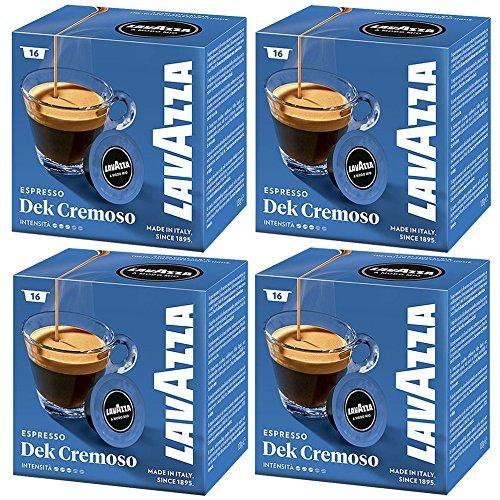 Lavazza a modo Mio DEK cremoso 16capsule per macchina del caffè espresso (confezione da 4)