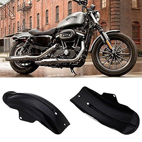 Iglobalbuy Custom Motorcycle Black Rear Fender Mudguard for Harley Davidson Sportster Bobber Chopper Cafe