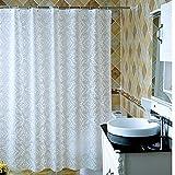 BYLE Badezimmer ist wasserbeständig unempfindlich Gegen Feuchtigkeit Duschvorhang Tuch Dusche mit Glaskabine Vorhänge Fenster Vorhang Vorhang Vorhänge, 200 x 200 cm