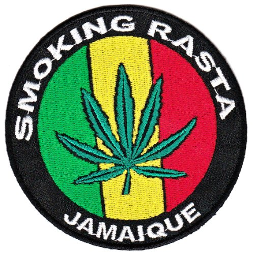 ue Aufnäher Bügelbild Aufbügler Iron on Patches Applikation Kleidung (Smoking Rasta)