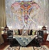 Papier Peint Mural Poster Géant 3D Éléphant Coloré Luxe Enfant Chambre Garcon Fille Ado Décoration De La Maison