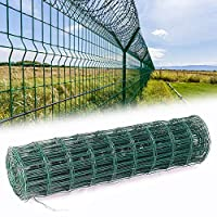 INMOZATA Green PVC Coated Wire Mesh Fencing Rolls Netting Galvanized Steel Mesh Chicken Wire Fencing for Garden Outdoor (1.5mx20m)