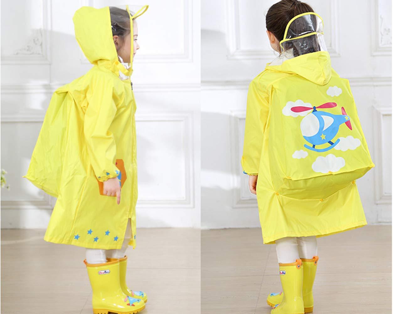 Flairstar Poncho Chubasquero Impermeable de Escuela Niño Niños con Capucha Impermeable Aire Libre 2